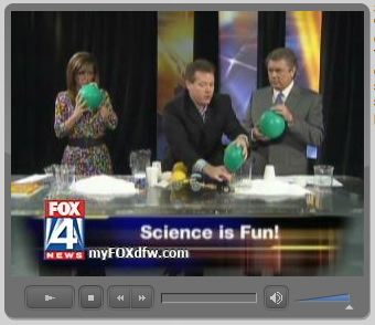 """Spangler introduces Tim and Megan to the """"reverse helium"""" gas"""