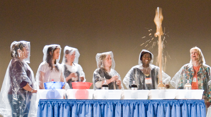 Teachers and Mentos Geyser Experiment