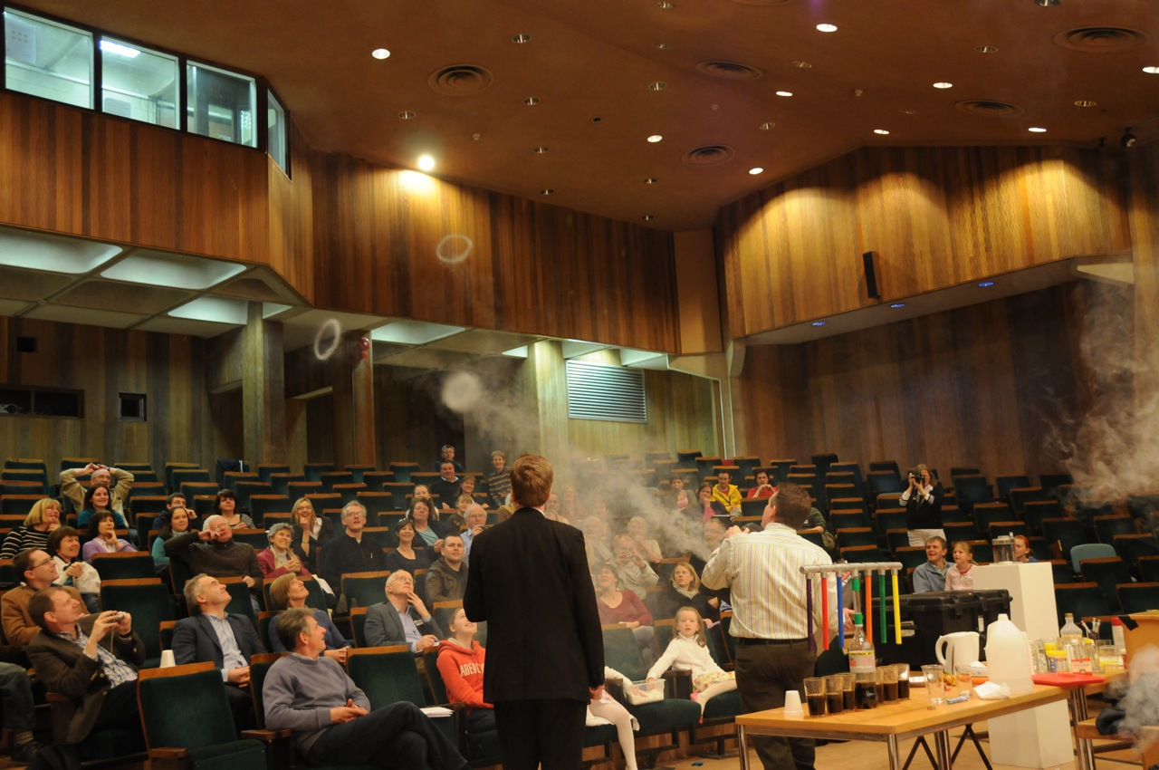 The Flying Smoke Rings worked like a charm during the Sunday morning lecture.