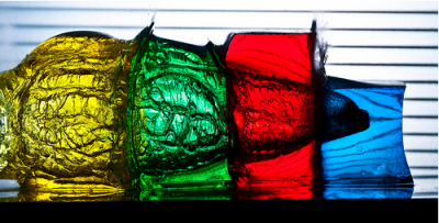 freeze frame on water jelly cubes