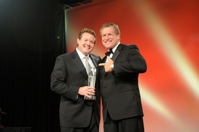 Steve Spangler with Mark Scharenbroich - Speaker Hall of Fame Award