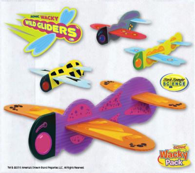 Steve Spangler Science Sonic Wacky Pack Kids Meal Wild Gliders