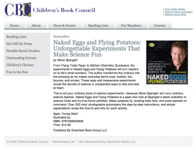 Children's Book Council - Naked Eggs and Flying Potatoes