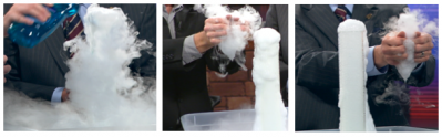 Steve Spangler Science Halloween bubbling dry ice