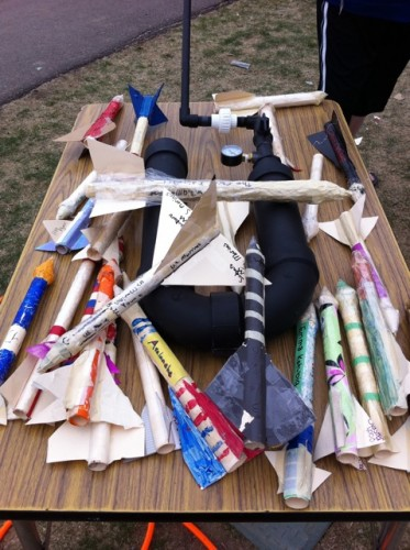 PVC Rocket Launcher at Wilder Elementary