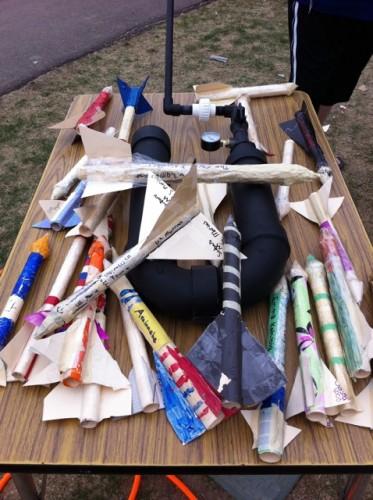 PVC Rocket Launcher at Wilder Elementary