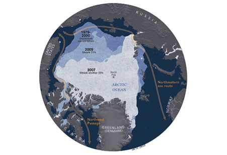Glacial Ice Melting in the Arctic - Global Warming