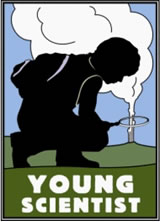 Young scientist badge at Yellowstone National Park