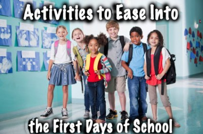 Activities to make the first day of school go smoothly. | Steve ...