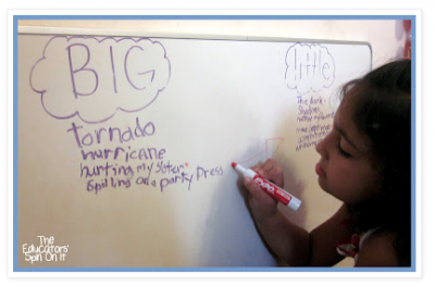 Big Worries vs. Little Worries - Tips for Easing Back to School Fears from Educators' Spin On It