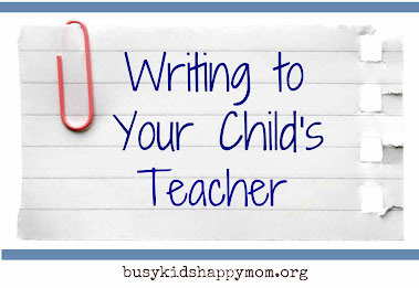 Easing back to school fears & anxiety - write to your child's teacher. | Steve Spangler Science