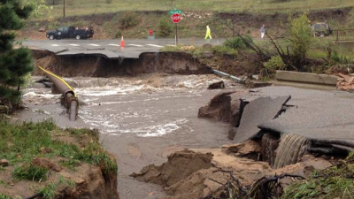 Colorado Flooding - Road Washed Away Near Lyons. The Science Behind 100-Year Floods | Steve Spangler Science