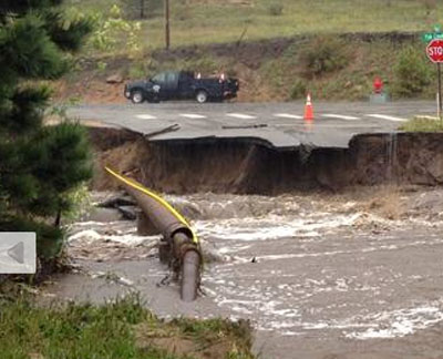 The Science Behind Flooding - Floods wash away roads   Steve Spangler Science