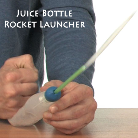 Make Your Own Juice Bottle Squeeze Rocket Launcher | Steve Spangler Science