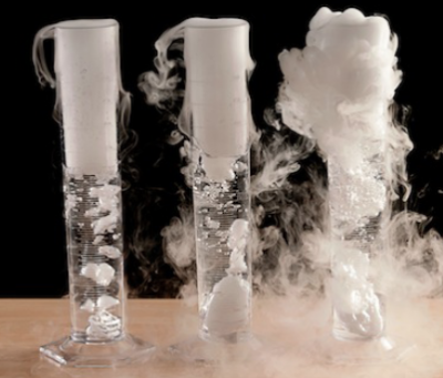 Dry Ice with warm water in Cylinders creates the perfect Mad Scientist lab for Halloween or anytime | Steve Spangler Science
