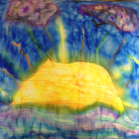 Create tie dye water color pillows and fabrics with Sharpie Pen Science | Steve Spangler Science