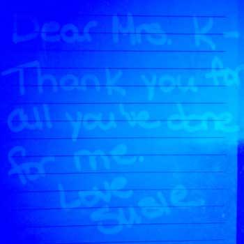 Teacher Appreciation - Secret Message Letter