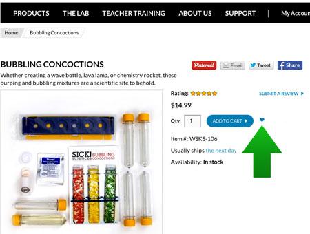 Create Your Teacher Wish List at Steve Spangler Science