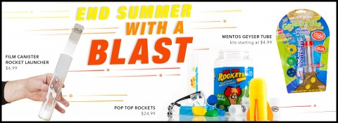 End Summer with a Blast - Rocket Science from Steve Spangler Science