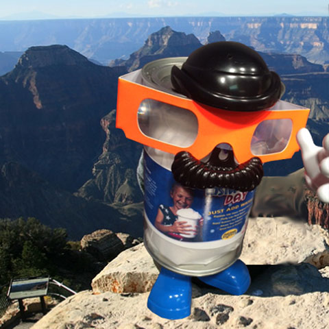 Instant Snow visits the Grand Canyon - Steve Spangler Science Selfies