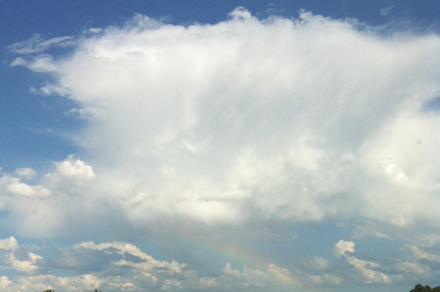 Cumulonimbus Cloud with a rainbow