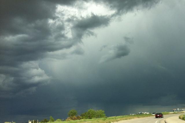 Super Cool, dark and ominous Nimbostratus Clouds.