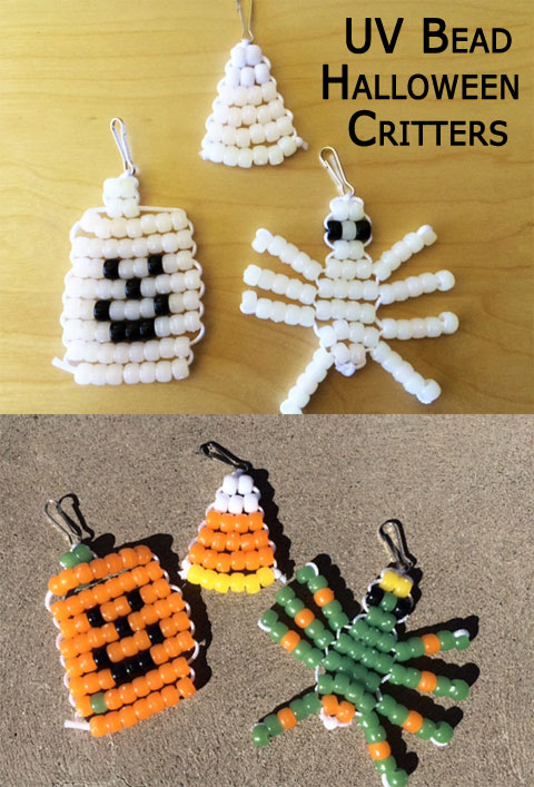 UV Bead Halloween Critters from Steve Spangler Science