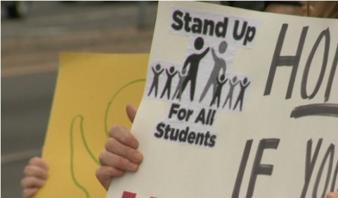 9News - Stand Up for Students Rally