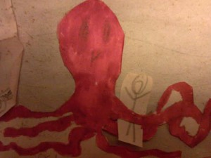 The octopus is my favorite part of Andy's diorama.