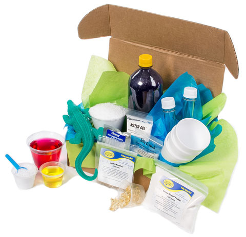 A sample of some of the cool science activities and materials you will receive in your Spangler Science Club membership