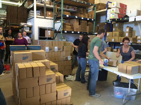 Spangler Science Club - Packaging the Kit of the Month Club at the Spangler Labs