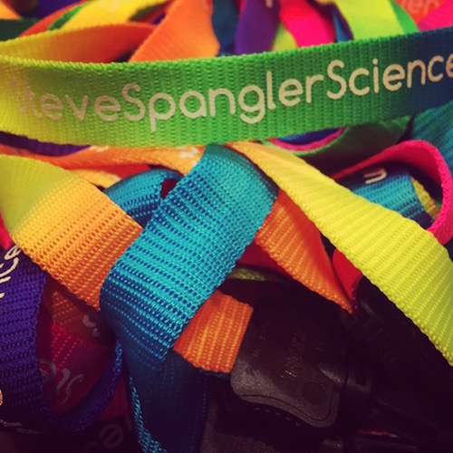 Lanyards for teachers ready for Science in the Teachers SITR