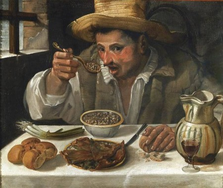 The Bean Eaters, by Annibale Carracci