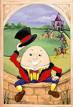 Humpty Dumpty, Battle of Colchester, cannon, king, not really an egg