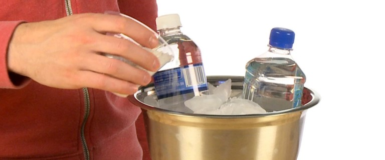 instant freeze water bottle slam science experiments steve