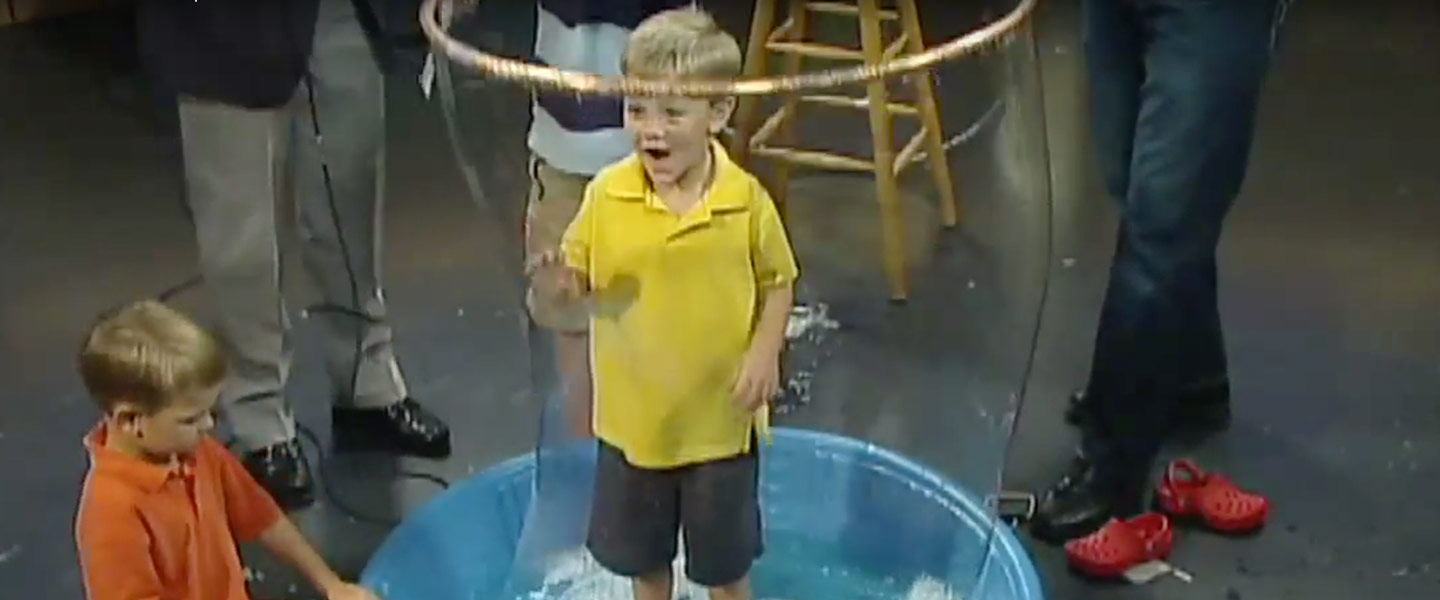 Giant Bubble Experiment Science Experiments Steve