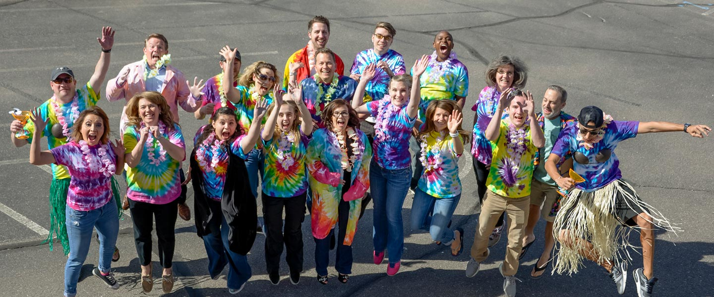 Tie-Dye Staff Photo