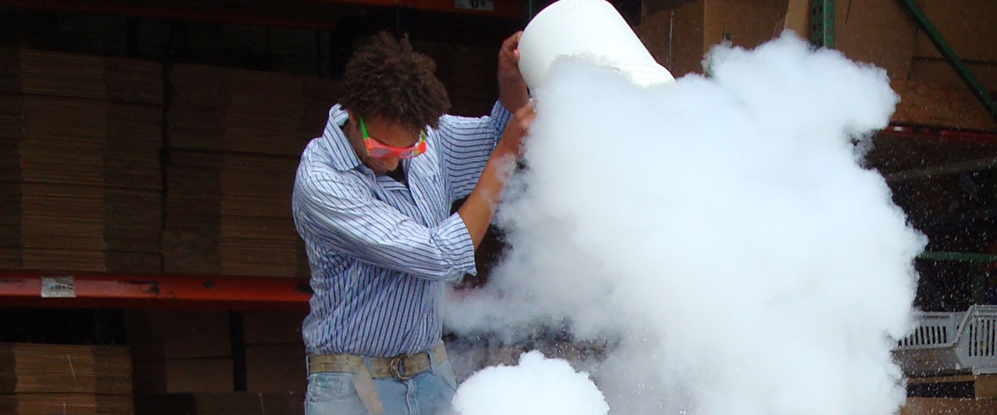 Liquid Nitrogen Ice Cream | Experiments | Steve Spangler Science