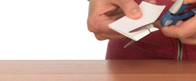 Coin Through Index Card Magic - Step 3