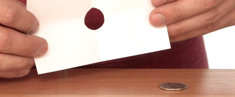 Coin Through Index Card Magic | Experiments | Steve Spangler