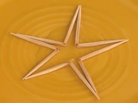 Toothpick Star Table Trick – SICK Science
