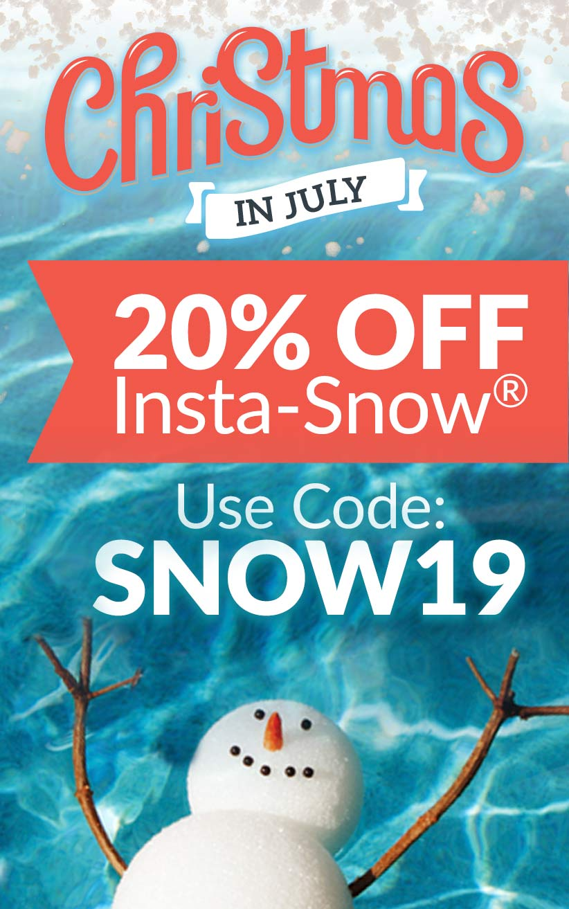 Christmas in July – 20% Off Insta-Snow