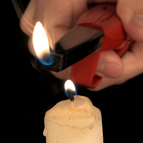 Relight a candle without touching a flame to the wick.