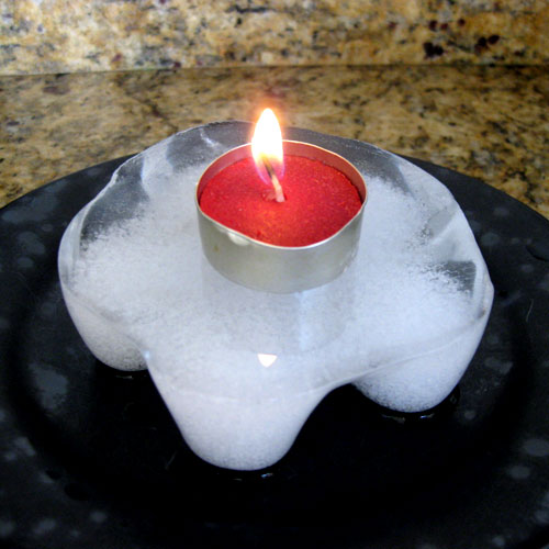 Icy Insta-Snow Star Candle Holder