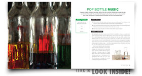 The Pop Bottle Music Experiment from Fire Bubbles and Exploding Toothpaste book by Steve Spangler