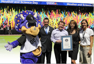 Steve Spangler Awarded Guinness World Record with Kathy Sabine and Dinger