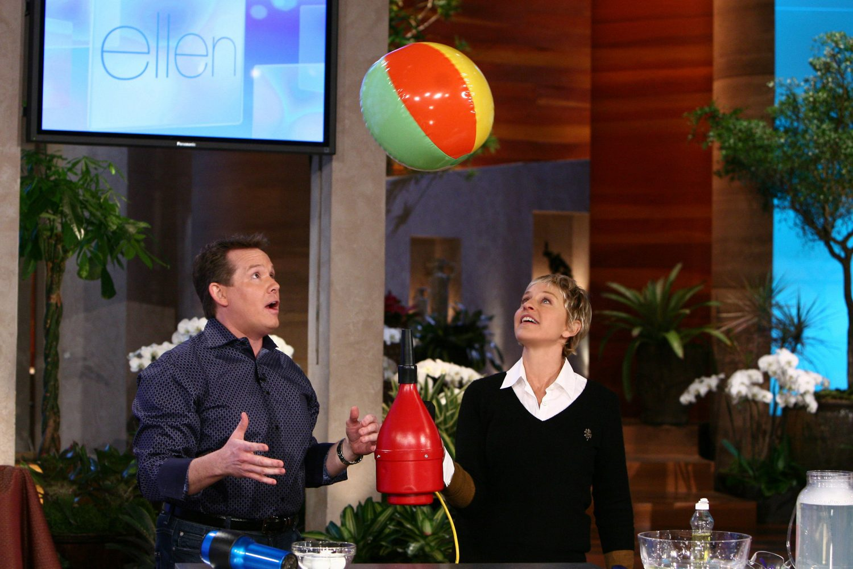 Steve Floating a Beach Ball on The Ellen Show