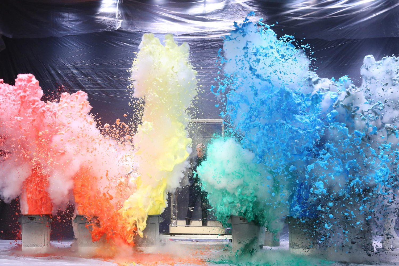 Foam Monster Explosion on The Ellen Show