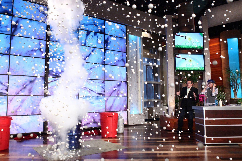 Steve Exploding Ping Pong Balls on The Ellen Show