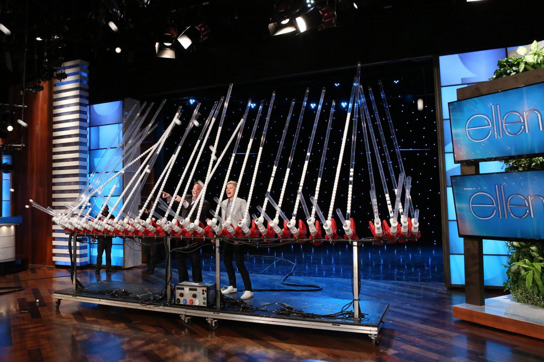 Steve Launching Ping Pong Balls on The Ellen Show